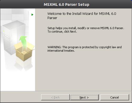 msxml6 1 Instalação do Microsoft Office 2010 no ubuntu 11.10 com Wine 1.4
