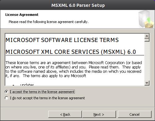 msxml6 2 Instalação do Microsoft Office 2010 no ubuntu 11.10 com Wine 1.4