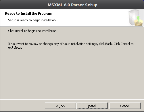 msxml6 4 Instalação do Microsoft Office 2010 no ubuntu 11.10 com Wine 1.4
