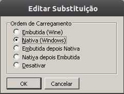winecfg editar substituicao Instalação do Microsoft Office 2010 no ubuntu 11.10 com Wine 1.4