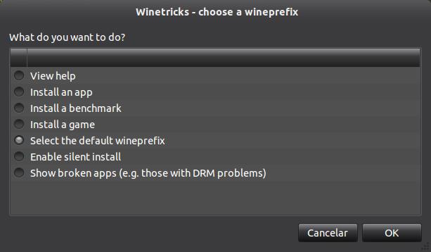 winetricks tela inicial Instalação do Microsoft Office 2010 no ubuntu 11.10 com Wine 1.4