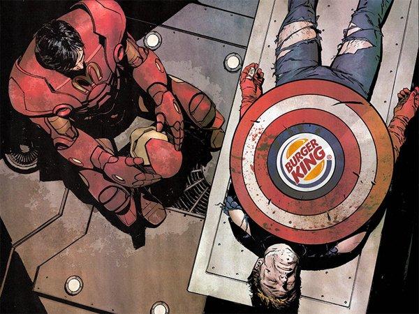 Capitão America Burger King