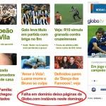 Site da Globo.com Redirecioanando para outro site