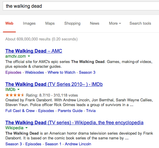 Novo experimento para resultado de busca do Google