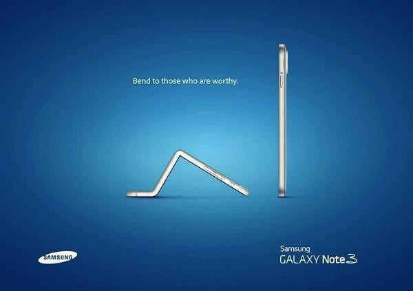 Iphone 6 se curvando para o Samsung Galaxy s3
